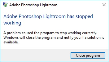 Ligtroom is crashing all the time | Lightroom Queen Forums