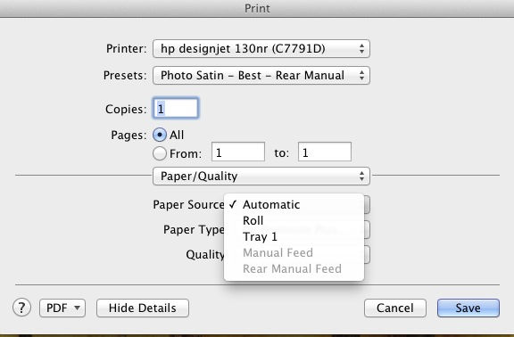 Printing unable to select manual paper feed options lightroom lightroomg fandeluxe Gallery