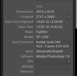 Library module - Edit EXIF camera model ? | Lightroom Queen Forums