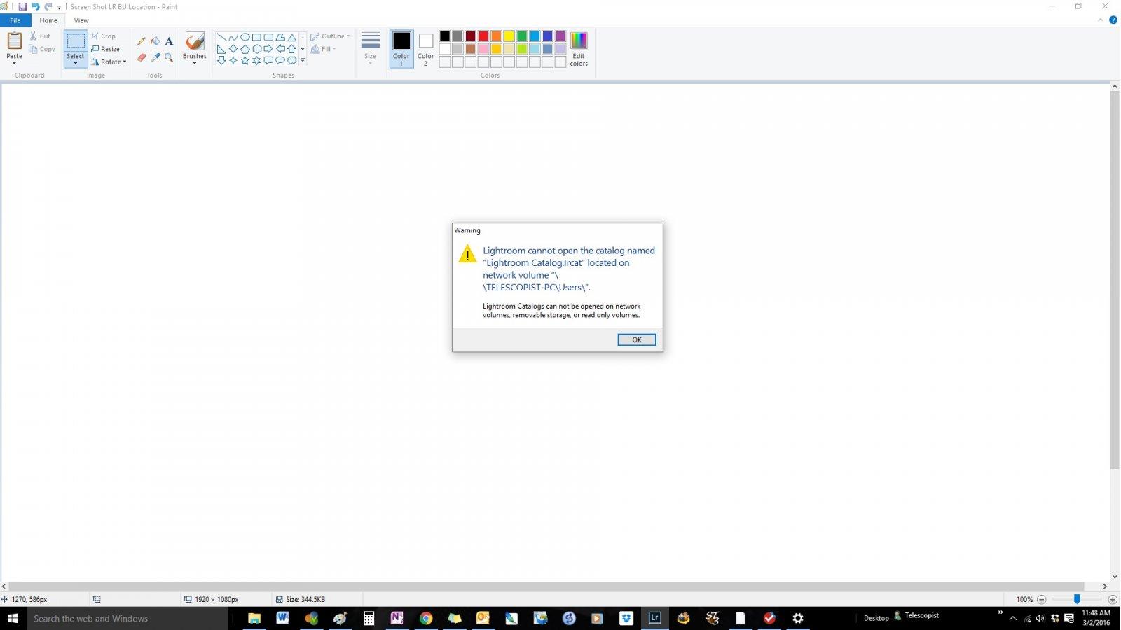 Screen Shot LR Cannot Open the Catalog.jpg